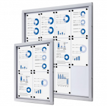 Magnetic Dry Wipe Wall Mounted Lockable Notice Boards