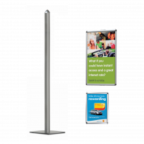 Replacement Snap Frame Poster Pole Display Components