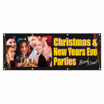Christmas & New Years Eve Parties Single Sided PVC Banner