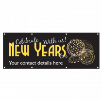Personalised New Year Party Banners, Tickets Now Available PVC Banner