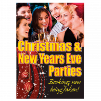 Christmas & New Years Eve Parties Waterproof Poster