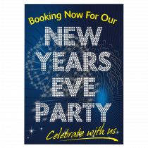 New Years Eve Party Bookings Now Being Taken Waterproof Poster