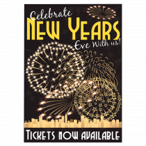 New Years Eve Tickets Now Available Waterproof Poster