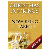 Christmas Party Bookings Now Being Taken Waterproof Poster - Gold