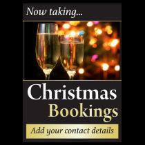 Personalised Now Taking Christmas Bookings Waterproof Poster
