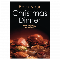 Book Your Christmas Dinner Waterproof Poster