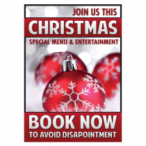 Christmas Special Menu & Entertainment Waterproof Poster