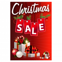Christmas Sale Waterproof Poster