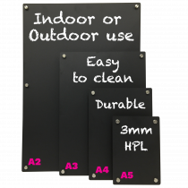 HPL Chalkboard Panels with Wall Stand-offs