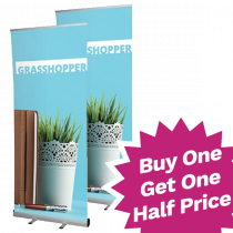 Economy Single Sided Roll Up Banners - Buy One Get One Half Price