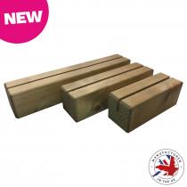 Wooden Block Menu Holder