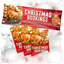 Christmas Bookings Now Being Taken Banner and Poster Advertising Pack