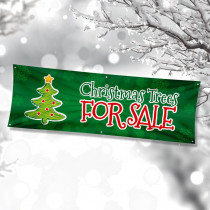 Christmas Trees for Sale Single Sided PVC Banner
