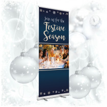 Join us this Festive Season  roller banner. 850x2000mm