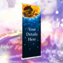 Personalised New Years Eve Party Night Bookings roller banner. 850x2000mm