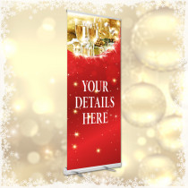 Personalised Christmas Bookings Pop Up Banner