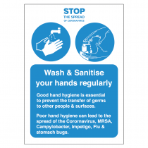 Please wash & sanitise your hands regularly vinyl sticker