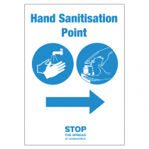 Your nearest Hand Sanitation Point Station arrow right vinyl sticker