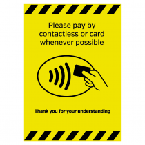 Please pay by contactless payment Please pay by contactless card whenever possible sign