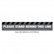 Please stand behind this line until space is vacant floor graphic