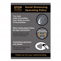 Social Distancing Operating Policy notice