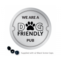 We are a Dog Friendly Pub Exterior Wall Plaque with fixings