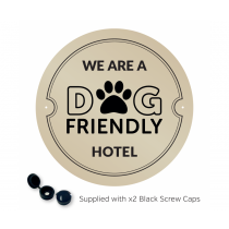 We are a Dog Friendly Hotel Exterior Wall Plaque with fixings