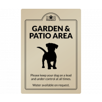 Dog Friendly Garden & Patio Area wall mounted Exterior Sign