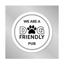 We are a Dog Friendly Pub vinyl window sticker