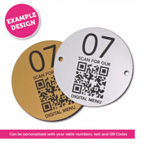 QR Code Table Number 60mm Disc