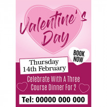 Personalised Celebrate Valentines Day Meal for Two Poster