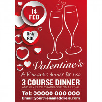 Personalised Valentines Day Romantic Dinner for Two Poster
