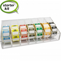 Day of the Week 25mm Food Label set with open roll Label Dispenser