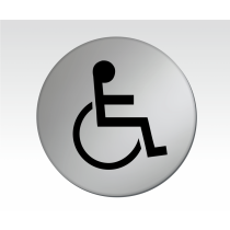 Disabled Symbol Satin Silver Toilet Door Disc