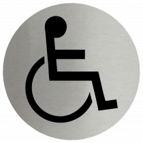 Disabled Symbol Stainless Steel Disc