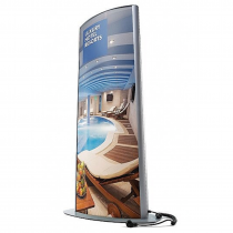 Double Sided Freestanding Illuminated Totem Poster Display