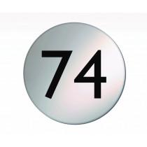 Numbered Satin Silver Door Disc
