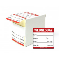 Wednesday Day Dot Food Labels - 50x50mm