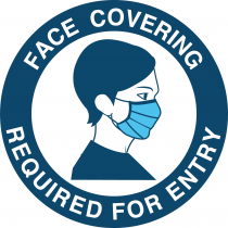 Face Covering required for Entry vinyl sticker