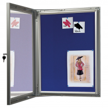 Felt Wall Mount Lockable Notice Boards