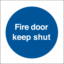 Fire Door Keep Shut Sticker