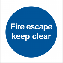 Fire Escape Keep Clear Sticker