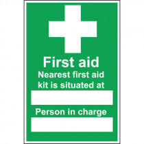 First Aid Box Situated Sign