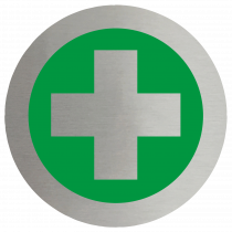 First Aid Symbol Stainless Steel Disc
