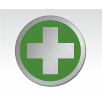 First Aid Symbol Satin Silver Door Disc