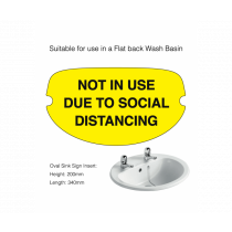 Flat Back Social Distancing Washroom Sink Cover