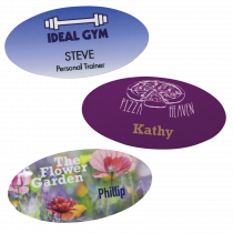 Oval Staff Name Badges - 76 x 38mm