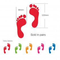 Funky Feet School & Nursery Social Distancing circular Floor Graphics