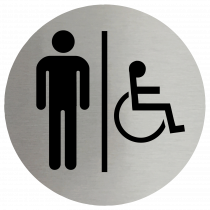 Gents & Disabled Symbol Stainless Steel Disc