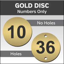 Gold Engraved table / locker number discs
